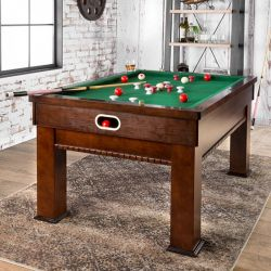 Cherry Finish Bumpel Bumper Pool Table - Games to play on a pool table